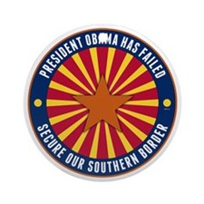 Secure Our Southern Border Round Ornament