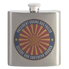 Secure Our Southern Border Flask