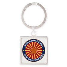 Secure Our Southern Border Square Keychain