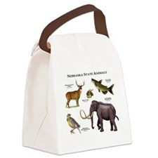 Nebraska State Animals Canvas Lunch Bag