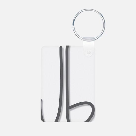 joybroker logo gray Aluminum Photo Keychain
