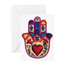 Heart Hamsa Greeting Card