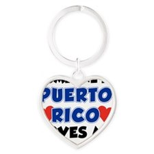Someone In Puerto Rico Loves Me Heart Keychain