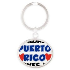 Someone In Puerto Rico Loves Me Oval Keychain