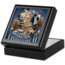 Dream Catcher Hawk Keepsake Box