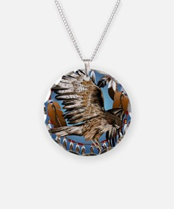 Dream Catcher Hawk Necklace