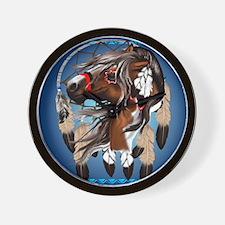 Paint Horse Dreamcatcher Wall Clock