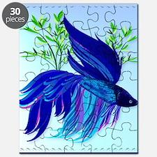 Big Blue Siamese Fighting Fish Puzzle