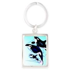 Orca  Family Portrait Keychain