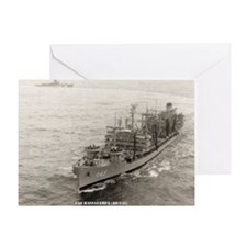 uss hassayampa large framed print Greeting Card