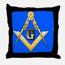Masonic Magnet Throw Pillow