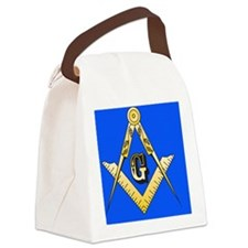 masonic trailer hitch cover Canvas Lunch Bag
