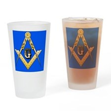 masonic trailer hitch cover Drinking Glass