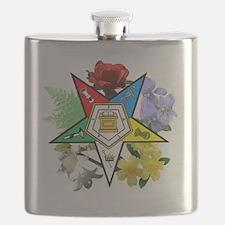 OES Floral Emblem Flask