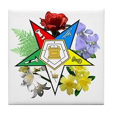 OES Floral Emblem Tile Coaster