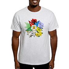 OES Floral Emblem T-Shirt
