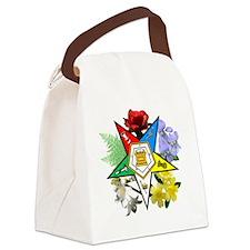 OES Floral Emblem Canvas Lunch Bag