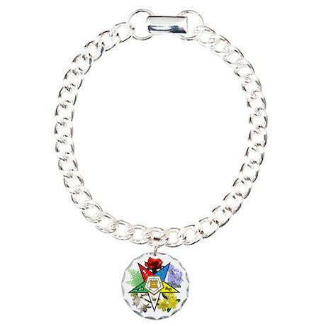 oes floral emblem charm bracelet one charm by admin