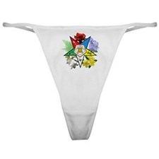 OES Floral Emblem Classic Thong