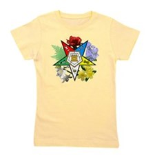 OES Floral Emblem Girl's Tee
