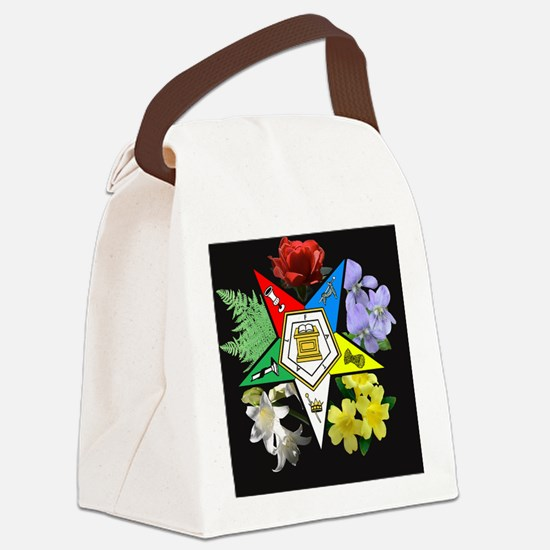 Eastern Star Floral reversed Canvas Lunch Bag