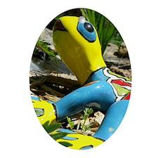 Garden Lizzard Oval Ornament