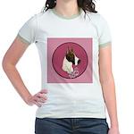 Mantle Great Dane design Jr. Ringer T-Shirt