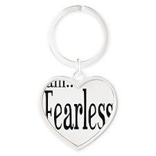 I am Fearless II Timothy 1:7 Heart Keychain