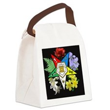 oes floral jewelry case Canvas Lunch Bag