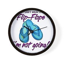 Flip-Flops Wall Clock