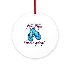 Flip-Flops Round Ornament