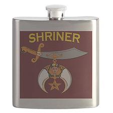 SHRINER round car magnet Flask