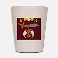 SHRINER round car magnet Shot Glass