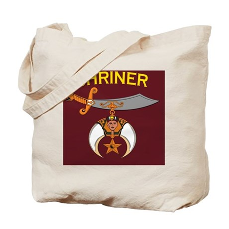 SHRINER round car magnet Tote Bag