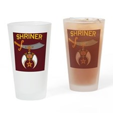 SHRINER round car magnet Drinking Glass
