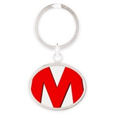 Letter M Oval Keychain