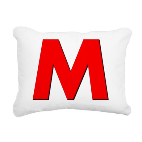 Letter M Rectangular Canvas Pillow