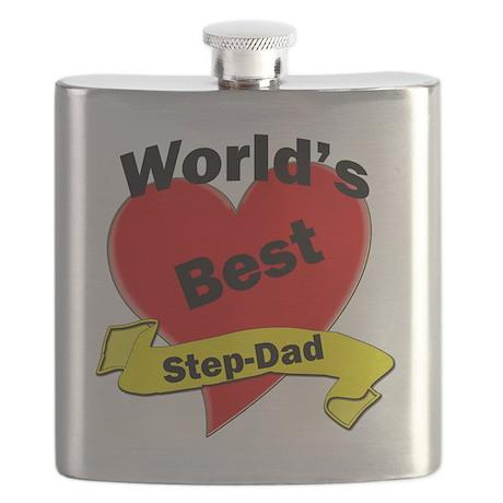 Worlds Best Step-Dad Flask