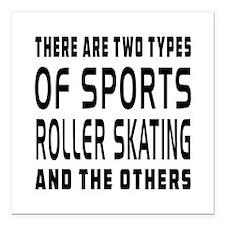 """Roller Skating Designs Square Car Magnet 3"""" x 3"""""""
