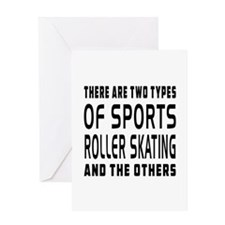 Roller Skating Designs Greeting Card
