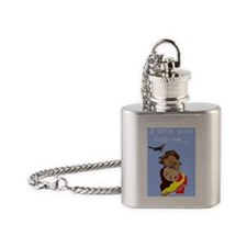 Funny Maternity Flask Necklace