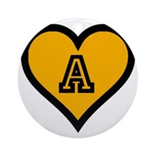 Alpha Sweetheart Round Ornament