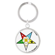 OES Charity Truth Loving Kindness Round Keychain