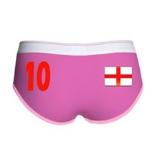 England 10 Red Women's Boy Brief
