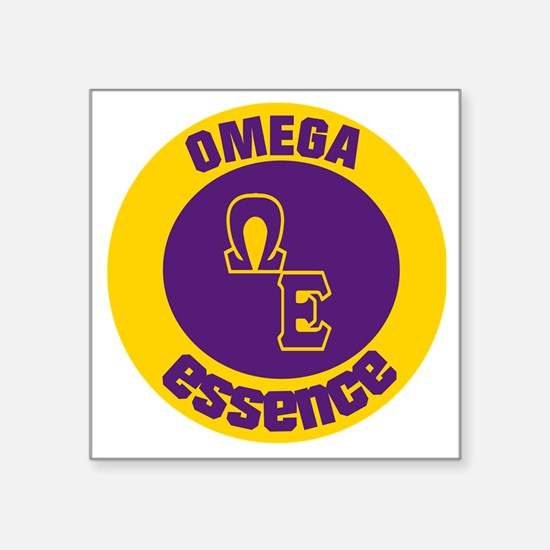 "Omega Essence Oval Square Sticker 3"" x 3"""