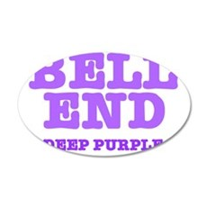 BELL END  - DEEP PURPLE 35x21 Oval Wall Decal