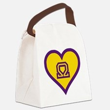 Que Sweetheart Canvas Lunch Bag