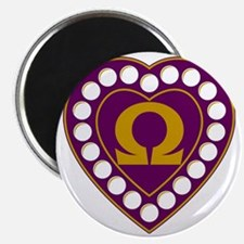 Omega Pearl Heart Magnet