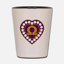 Omega Pearl Heart Shot Glass