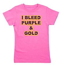 I Bleed Purple  Gold Girl's Tee